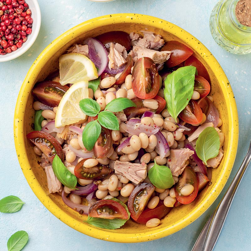 ton balıklı fasulye salatası sefer tası