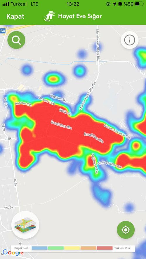 Melikgazi kayseri koronavirüs haritası