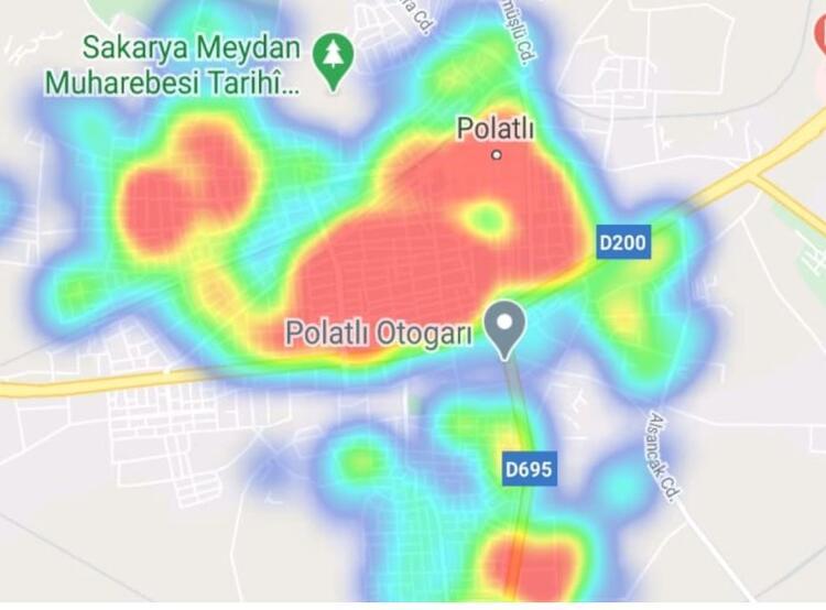 polatlı ankara koronavirüs yoğunluk haritası